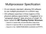 multiprocessor specification