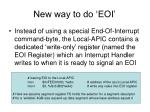 new way to do eoi