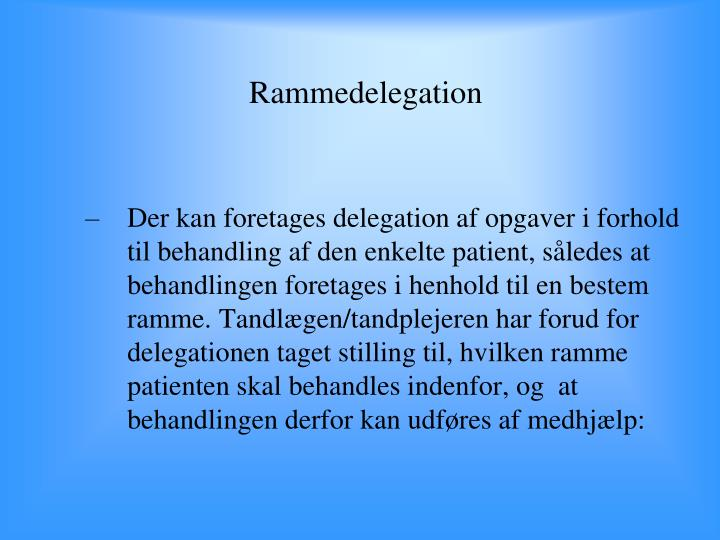 Rammedelegation