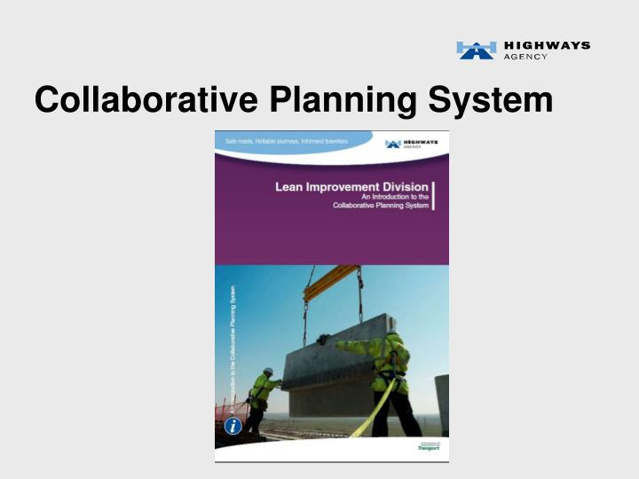 Collaborative Planning System
