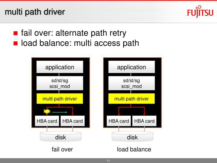 multi path driver