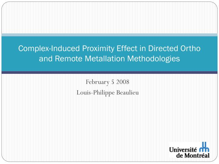 complex induced proximity effect in directed ortho and remote metallation methodologies