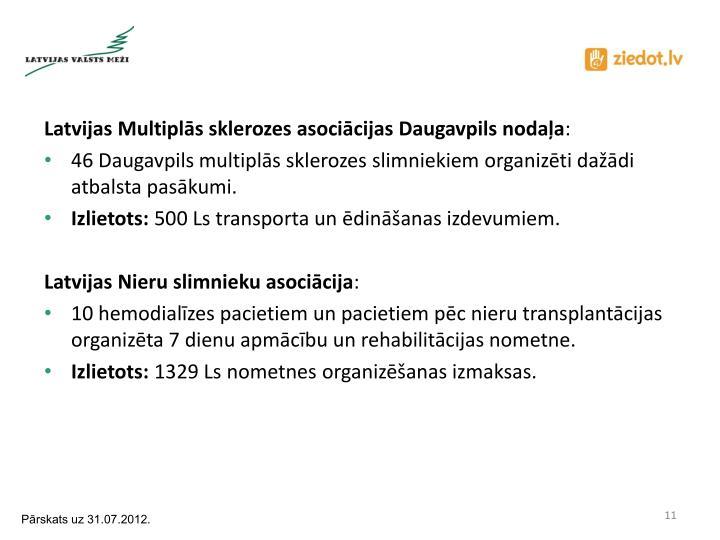 Latvijas Multiplās sklerozes asociācijas Daugavpils nodaļa