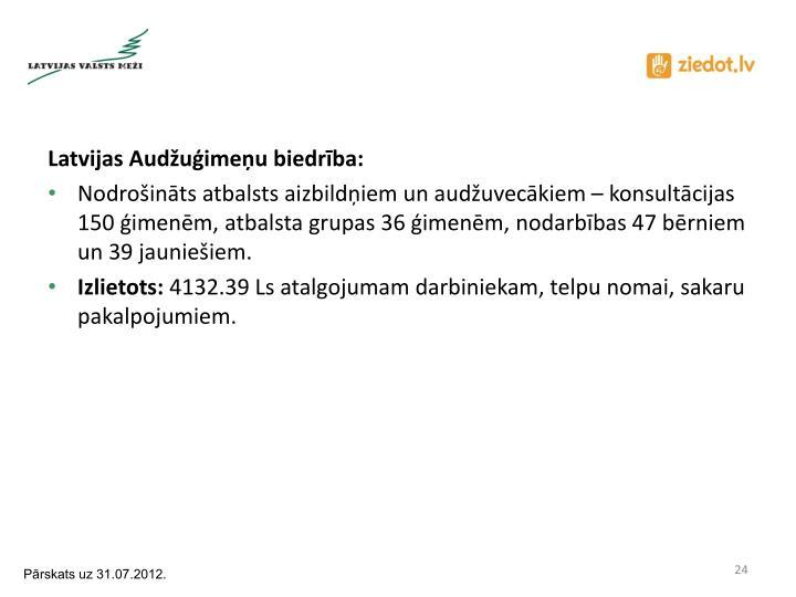 Latvijas Audžuģimeņu biedrība: