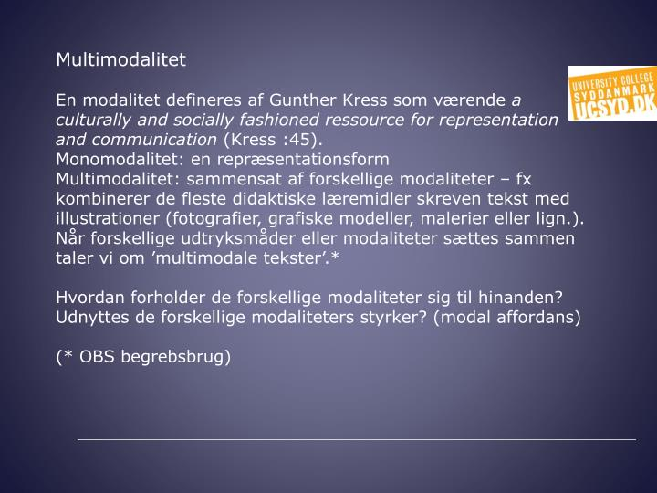 Multimodalitet