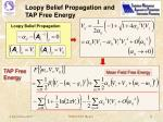 loopy belief propagation and tap free energy
