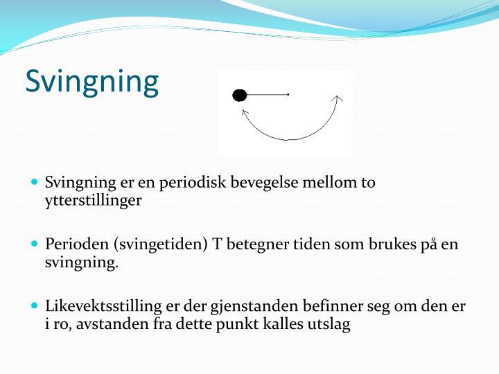 Svingning