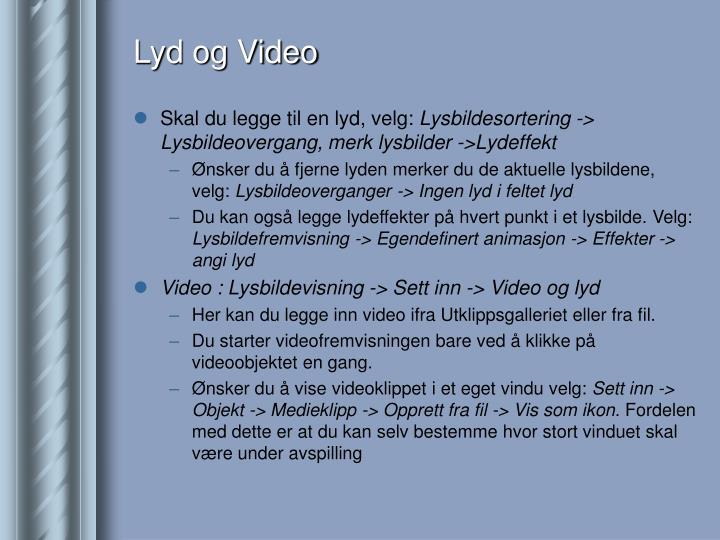 Lyd og Video
