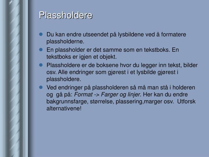Plassholdere