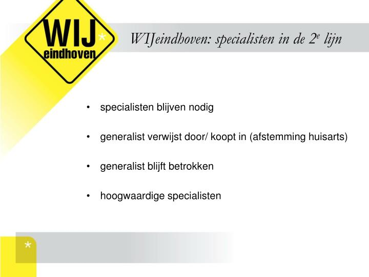 WIJeindhoven: specialisten in de 2