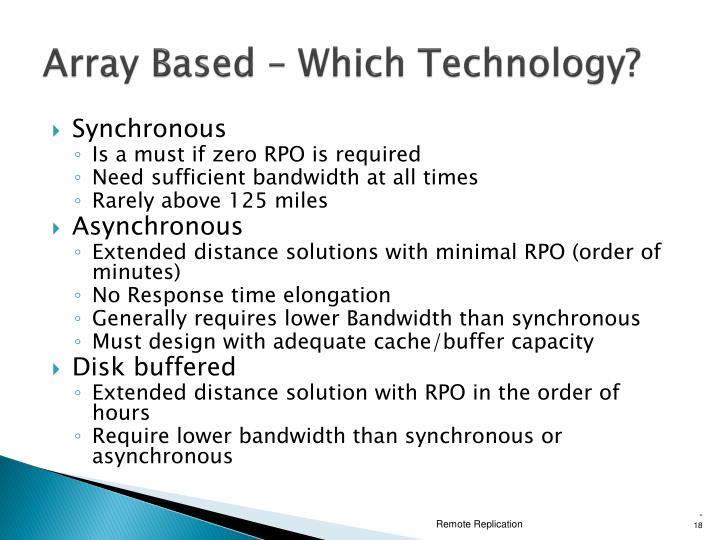 Array Based – Which Technology?