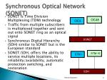 synchronous optical network sonet