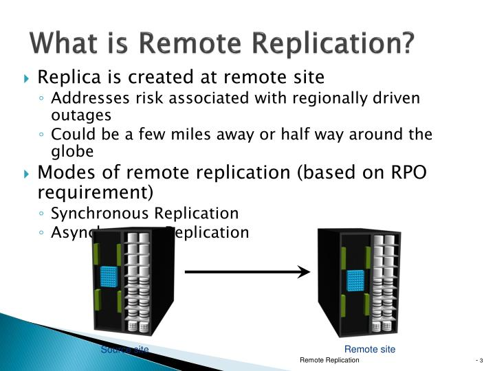 What is Remote Replication?