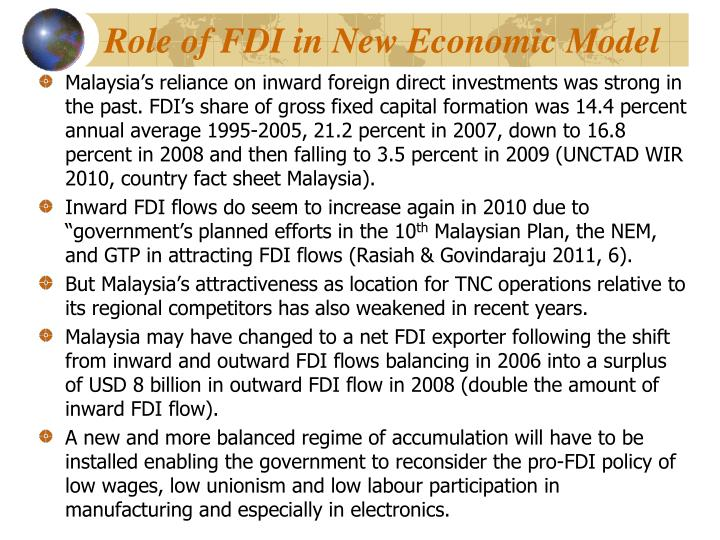Role of FDI in New Economic Model