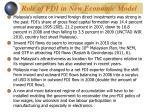 role of fdi in new economic model