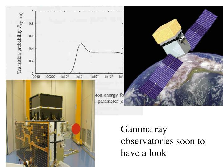 Gamma ray observatories soon to have a look
