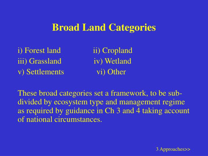 Broad land categories