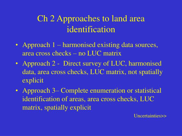 Ch 2 Approaches to land area identification