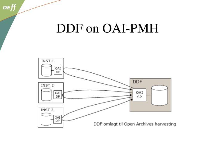 DDF on OAI-PMH