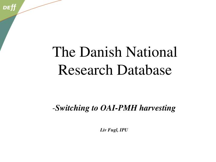 Switching to OAI-PMH harvesting