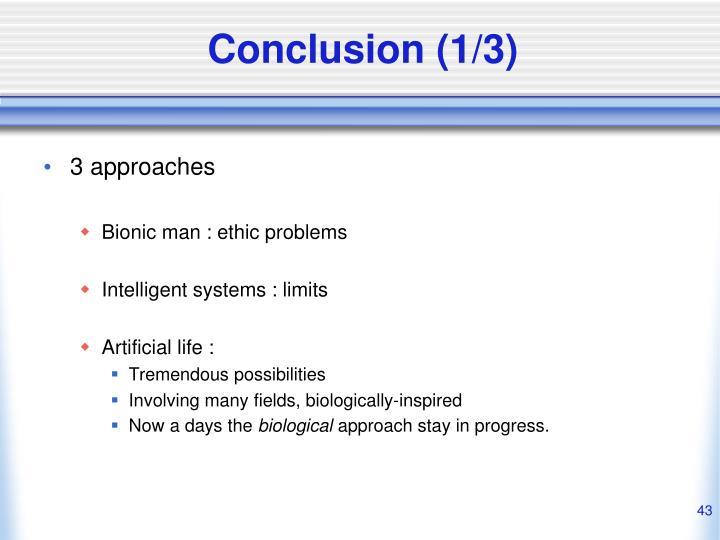 Conclusion (1/3)