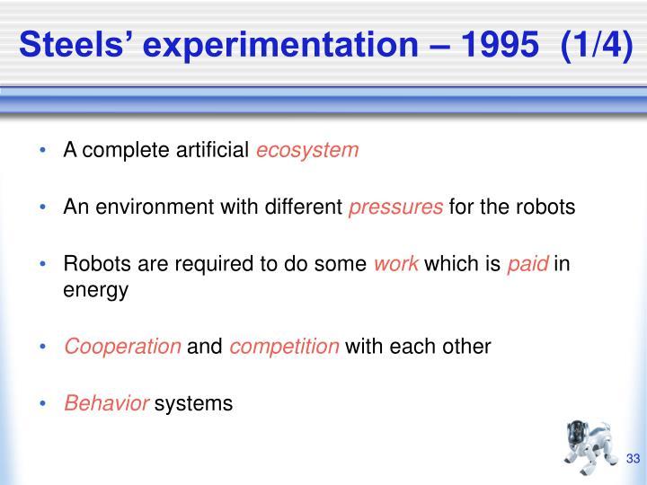 Steels' experimentation – 1995  (1/4)