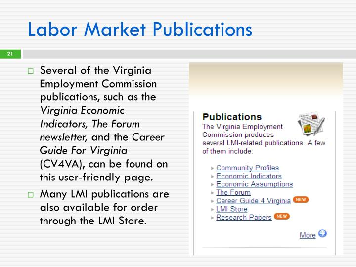 Labor Market Publications