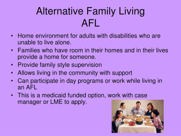 Alternative Family Living
