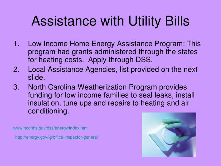 Assistance with Utility Bills