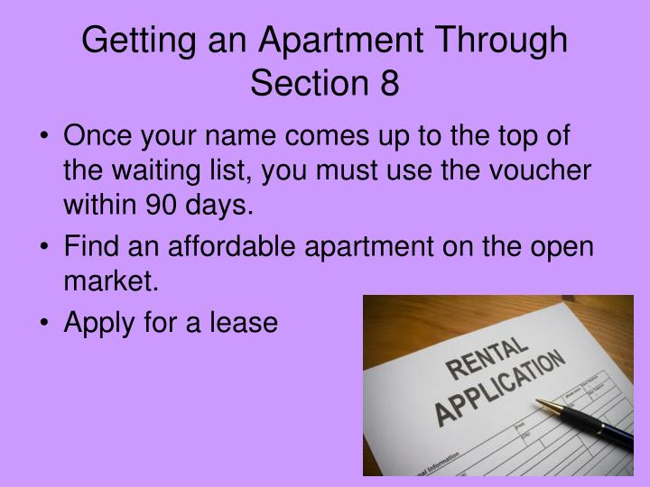 Getting an Apartment Through Section 8