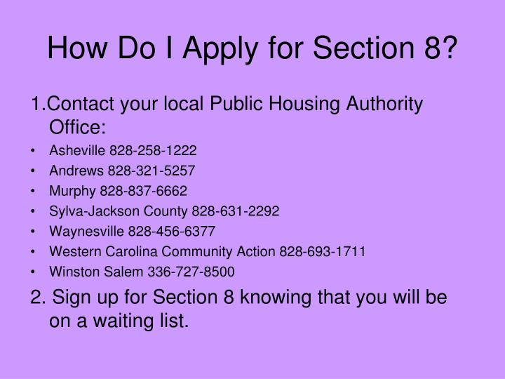 How Do I Apply for Section 8?