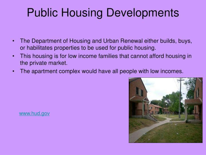 Public Housing Developments