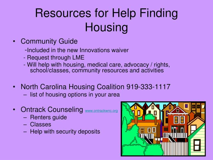 Resources for Help Finding Housing