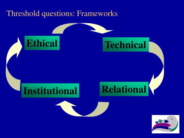 Threshold questions frameworks