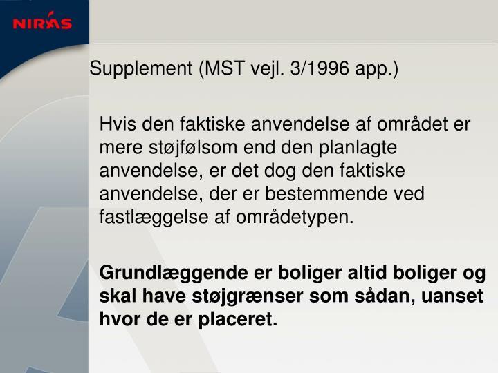 Supplement (MST vejl. 3/1996 app.)