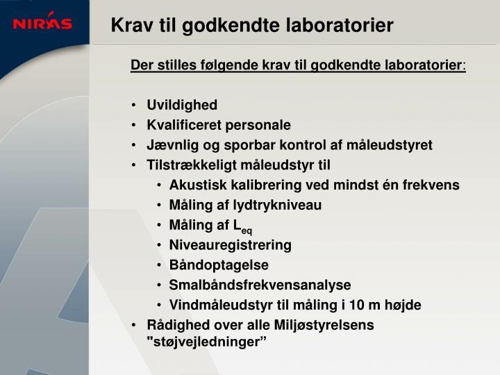 Krav til godkendte laboratorier