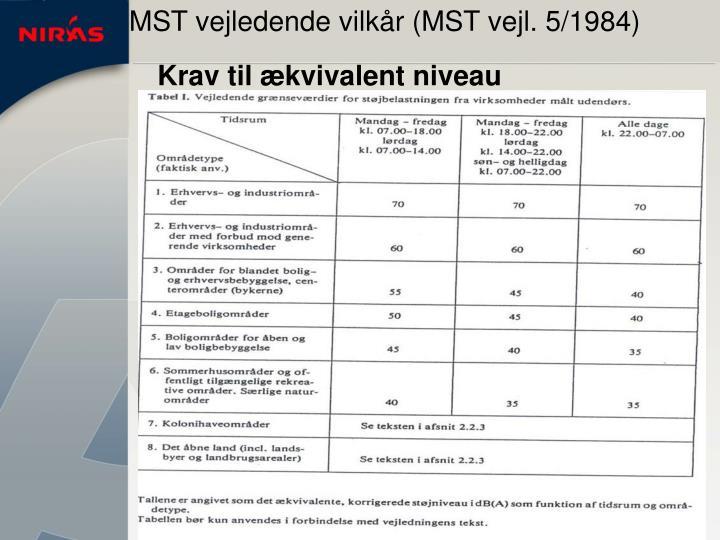 MST vejledende vilkår (MST vejl. 5/1984)