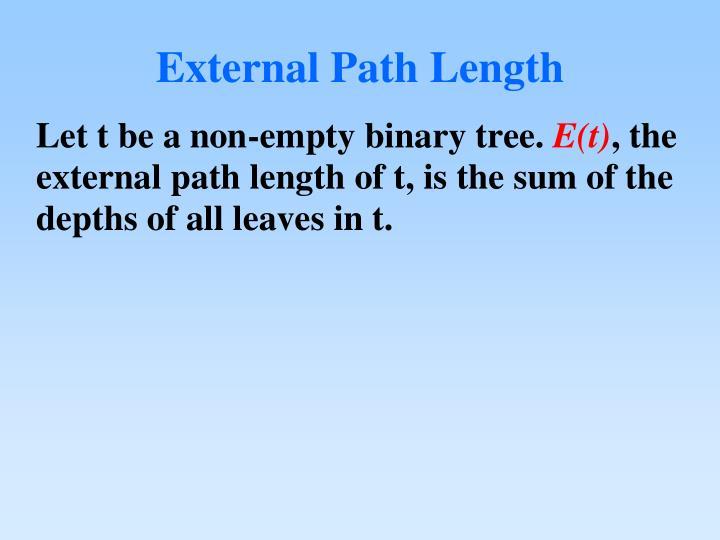 External Path Length