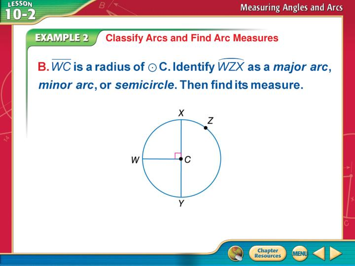 Classify Arcs and Find Arc Measures