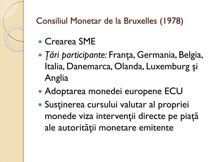 Consiliul Monetar de la Bruxelles (1978)