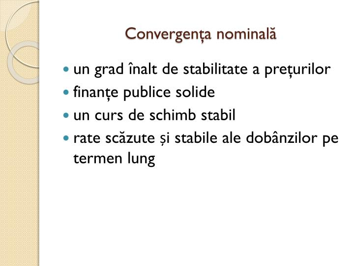 Convergenţa nominală