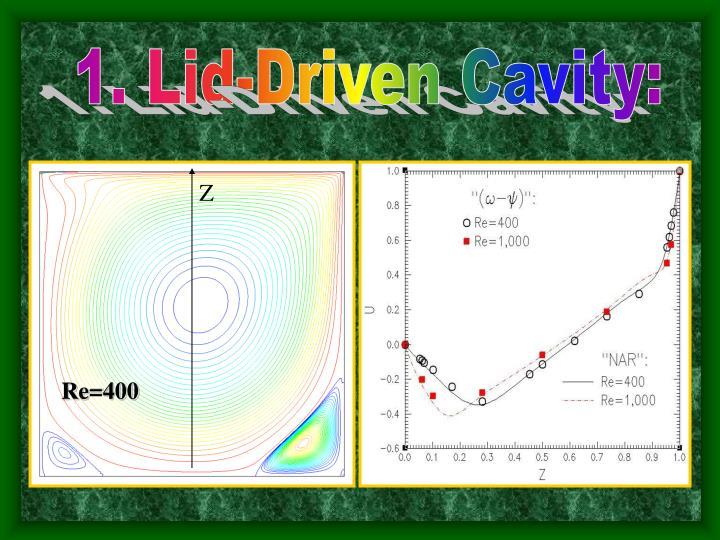 1. Lid-Driven Cavity: