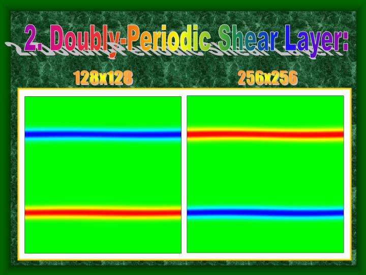 2. Doubly-Periodic Shear Layer:
