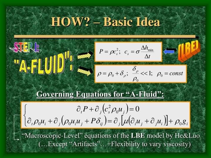 HOW? – Basic Idea