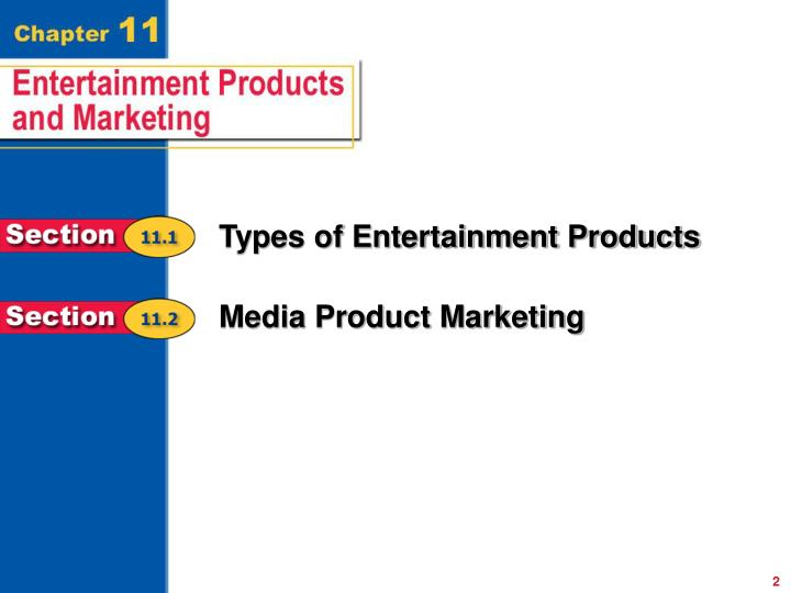 Types of Entertainment Products
