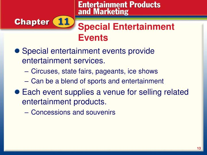 Special Entertainment Events
