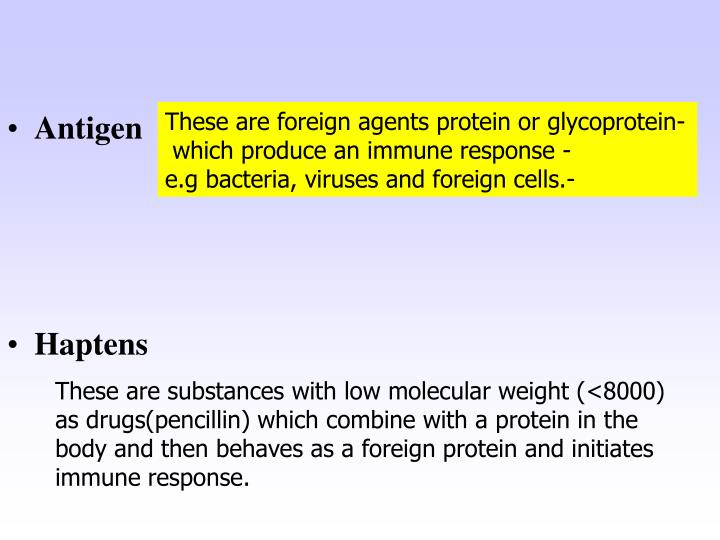 These are foreign agents protein or glycoprotein