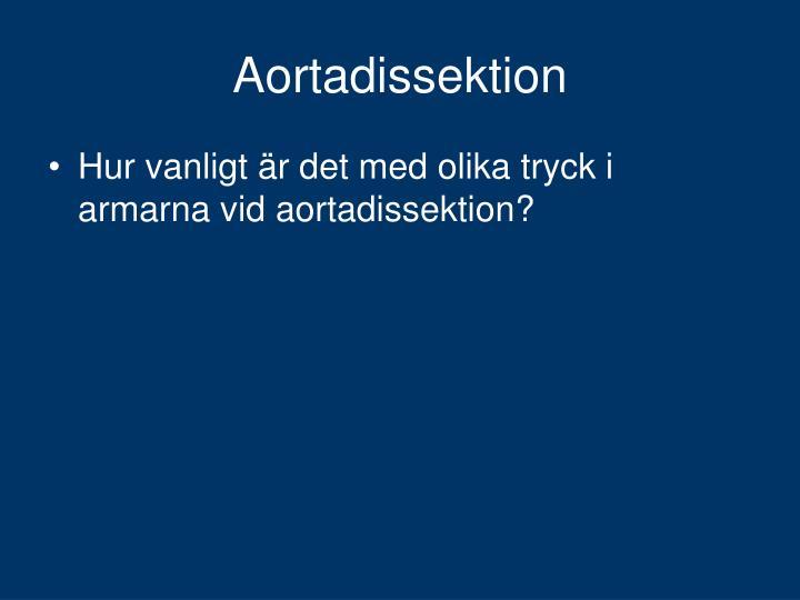 Aortadissektion