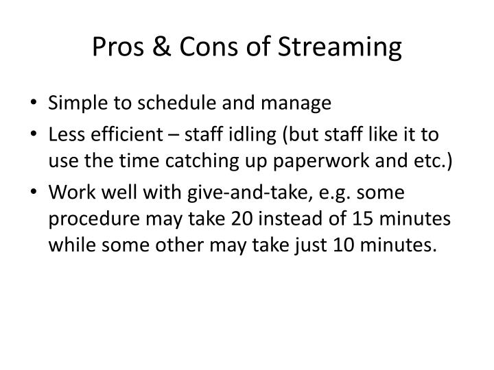 Pros & Cons of Streaming