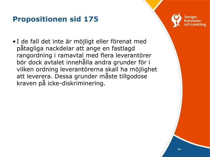 Propositionen sid 175